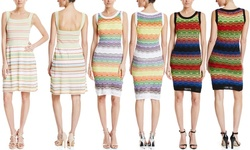M Missoni Stretch Knit Tank Dress - White/Rainbow Multi - Size: 44
