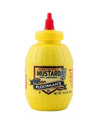 Plochman's Flavored Yellow Mustard - Squeeze Barrels - 10.5oz (Pack of 6)