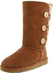 UGG Australia Girls' Bailey Sheepskin Fashion Boot - Chestnut - Size: 6M