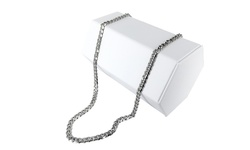 """Men's 24"""" Cuban Chain Necklace in Stainless Steel"""