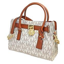 6f440b11c647 Michael Kors Hamilton MK Logo Satchel Bag - Vanilla - One Size ...