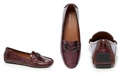 Donald J Pliner Women's Viky Flat Shoes - Dark Rouge - Size: 6