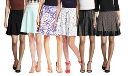 Catherine Catherine Malandrino Women's Emma Flare Skirt - Noir - Size: 8