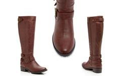 Intaglia Women's Texas Wide Calf Boot - Cognac - Size: 8.5