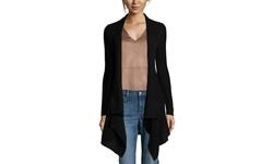 Sandra Women's Cashmere Exposed Seam Tunic - Navy - Size: Small