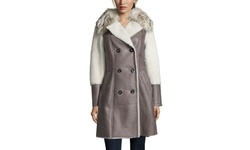 Pasha Veneto Women's Shearling Coat with Fur Collar - El Taba - Size: S