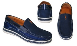 Frenchic Men's Slip On Loafers - Navy - Size: 9.5