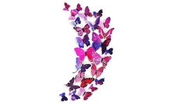 Center Link Media 3D Butterfly Magnets 12 Piece Set - Pink