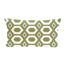 E By Design More Hugs and Kisses Print Outdoor Seat Cushion - Olive