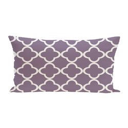E By Design Marrakech Geometric Print Outdoor Seat Cushion - Larkspur