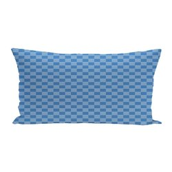 E By Design Read Lines Geometric Print Outdoor Seat Cushion - Azure
