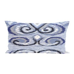 E By Design Ikat's Meow Geometric Print Outdoor Seat Cushion - Dust