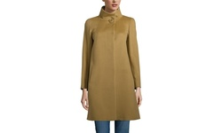 Cinzia Rocca Due Women's Cashmere Blend Slim Peacoat - Camel - Size: 16