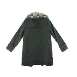 1.state Feather Fur Trim Anorak Jacket: Rich Black/Small
