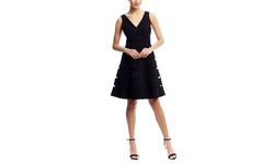 Scarlett Women's A-Line Illusion Cocktail Dress - Black - Size: 12