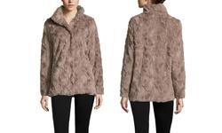 Weatherproof Women's Weathercast Faux fur Jacket - Mushroom - Size: M