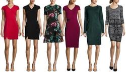 Marc New York Women's V-Neck Lux Stretch Sheath Dress - Red - Size: 0