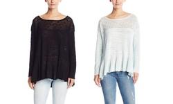 Free People Women's 'Kristobel' Ruffled Top Sweater - Black - Size: XS