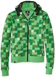 Minecraft Creeper Premium Zip-Up Youth Hoodie - Green - Size: X-Large