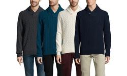 Ben Sherman Men's Cowl Collar Sweater - Ivory - Size: Xlarge