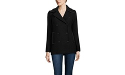 Soia & Kyo Women's Double Breasted Short Wool Coat - Black - Size: Large