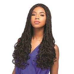 Senegal Collection Braided Lace Wig -Senegal Roller Twist-1B