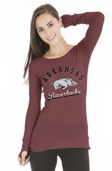 NCAA Auburn Tigers Women's Layla Long Sleeve Shirt - Garnet - Size: XL