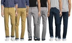 Jachs Men's Eiffel Tower Rolled Bottom Cuff Pant - Grey - Size: 32