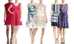Julian Taylor Women's Sleeveless Fit & Flare Dress - Blue Multi - Size: 14