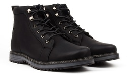 Vincent Cavallo Men's Plain Toe Combat Boots - Black - Size: 7.5