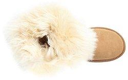 Australia Luxe Women's Foxy Shearling Short Boots - Chestnut - Size: 8.5