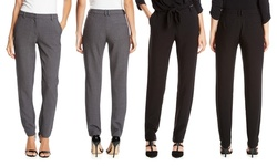 French Women's Slim Fit Pant - Black - Size: Large