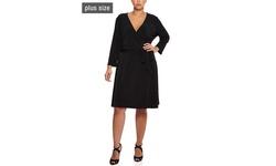 Leota Women's Perfect Wrap Maternity Dress - Black - Size: 3L