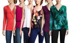 Adrianna Papell Women's Lace & Peplum Blouse - Geranium - Size: Large