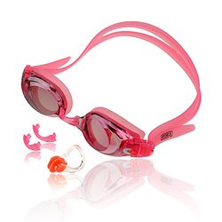 Optical Mirrored Swim Goggles with Prescription Lenses and Free Nose Clip
