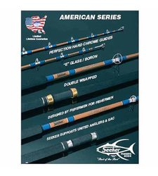 Seeker Fishing Rods 6' Tuna Rod with Roller