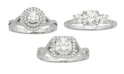 L'Artiste Swarovski Elements Crystal Bridal Rings Sterling Silver - Size:8