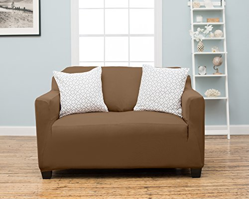 Dawson Collection Twill Strapless Slipcove Toffee Size Loveseat Check Back Soon Blinq