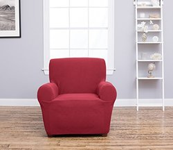 Home Fashion Cambria Furniture Strapless Slipcover - Burgundy - Size:Chair