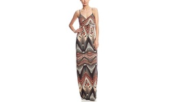 TART Collections Women's Linear Chevron Maxi Dress - Multicolor - Size: L
