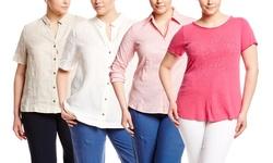 Marina Sport Balza Blouse - White - Size: 22