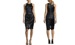 Sable & Zoe Women's Laser Cut Cocktail Dress - Black - Size: X Small