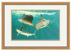 Guy Harvey Grand Slam Framed Mini Art - 13X16