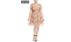 Gabby Skye Women's Sleeveless Popover Maxi Dress - Red Floral - Size: 16W