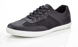 Marco Vitale Men's Casual Sneakers - Black - Size: 12