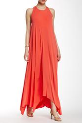 Rachel Zoe Athena Back Halter Maxi Dress - Red Orange - Size: Medium