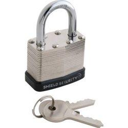 "Shield Security 1-1/2"" Keyed Alike Steel Laminated Padlock"