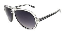 Michael Kors Caicos Sunglasses - Clear Frame/Purple Lens