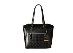 London Fog Women's Thames Tote Bag - Black Embossed - Size: One