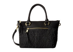 London Fog Women's Felicity Satchel Quilted - Black Quilted